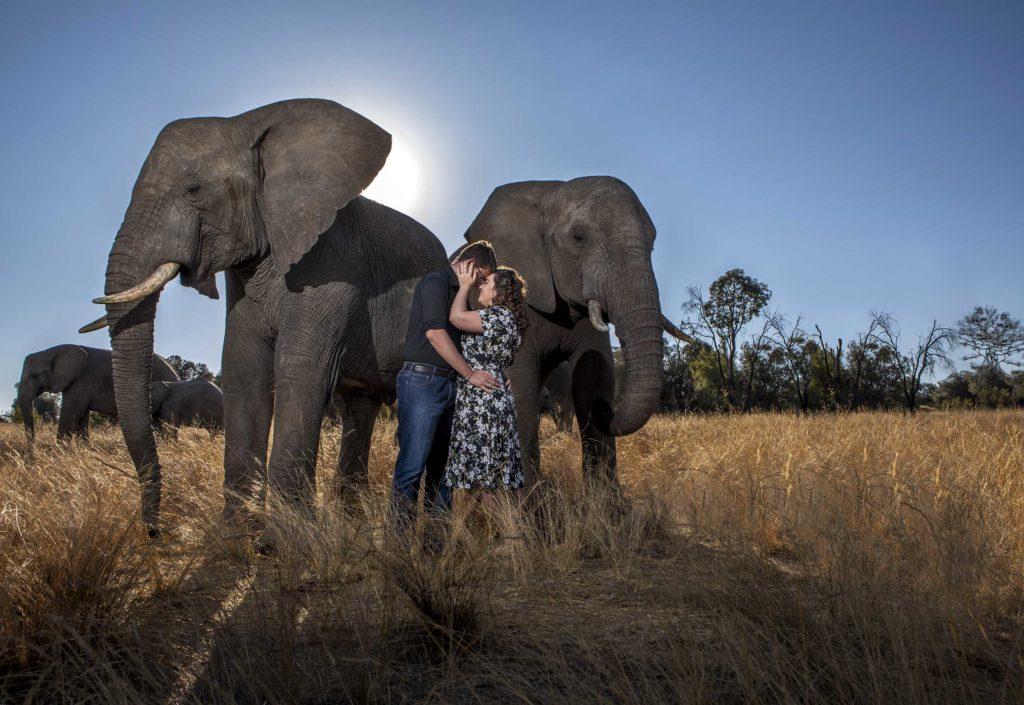 Darrell Fraser Adventures with Elephants Engagement Photographer