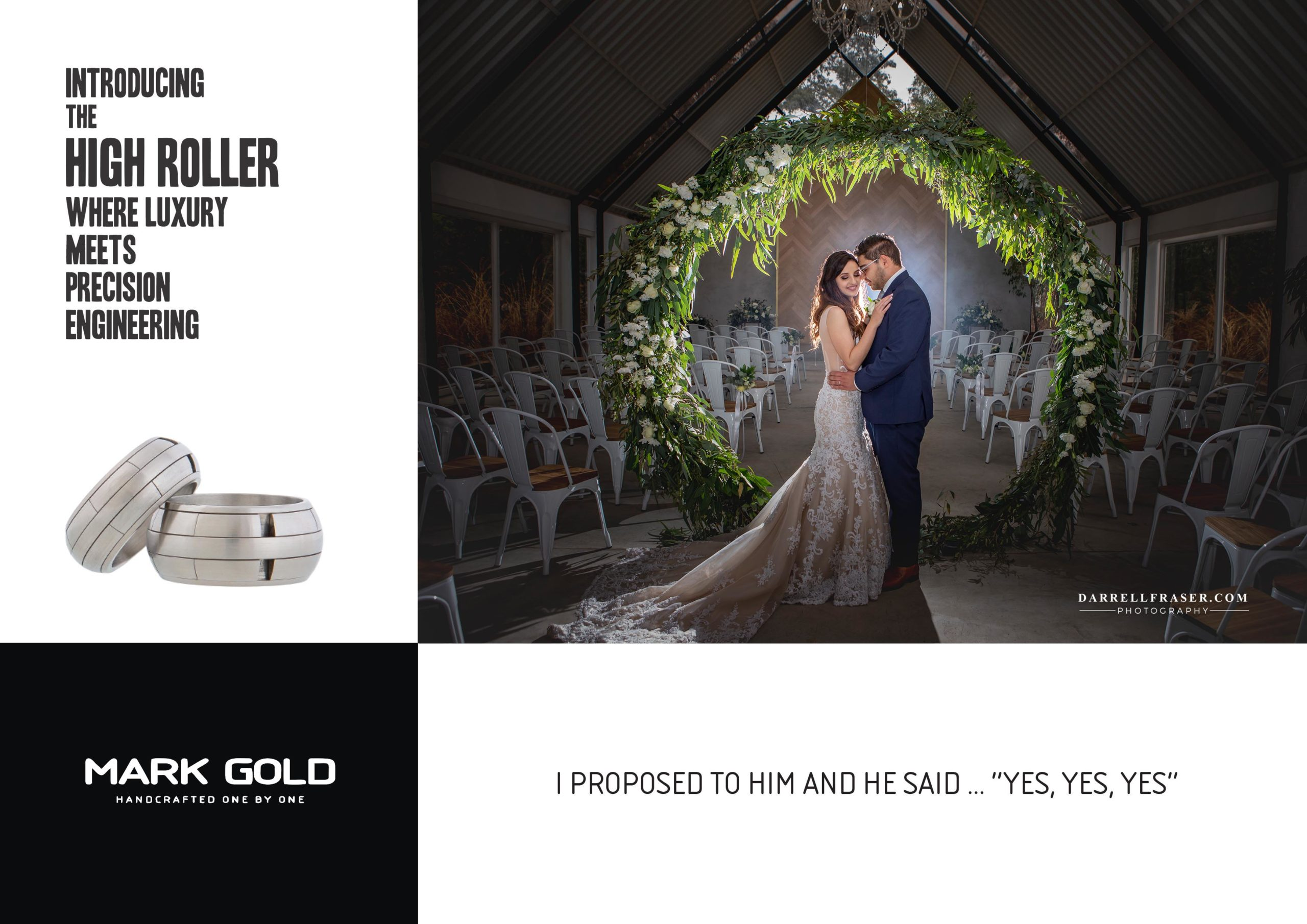MARK GOLD THE HIGH ROLLER 2020 COLLABORATION WITH DARRELL FRASER WEDDING PHOTOGRAPHER